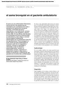 el asma bronquial en el paciente ambulatorio