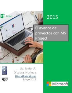 El avance de proyectos con MS Project
