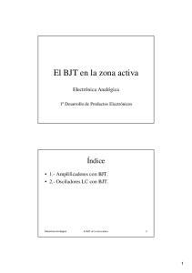 El BJT en la zona activa