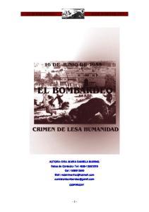 EL BOMBARDEO 16 DE JUNIO DE 1955