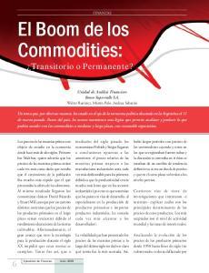 El Boom de los Commodities:
