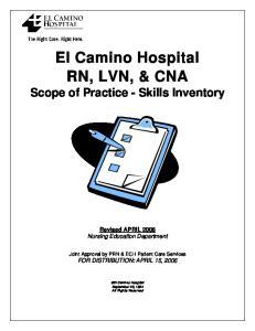 El Camino Hospital RN, LVN, & CNA