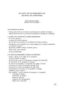 EL CANTO DE LOS PEREGRINOS DE SANTIAGO DE COMPOSTELA