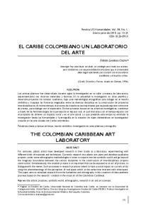 EL CARIBE COLOMBIANO UN LABORATORIO DEL ARTE