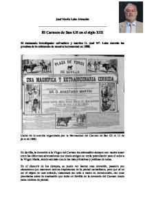 El Carmen de San Gil en el siglo XIX