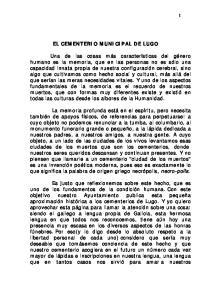 EL CEMENTERIO MUNICIPAL DE LUGO