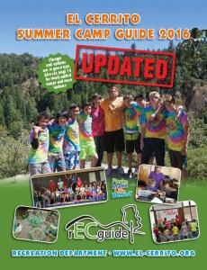El Cerrito Summer Camp Guide 2016