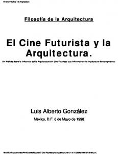 El Cine Futurista y la Arquitectura