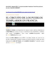 EL CIRCUITO DE LOS PUEBLOS TEMPLARIOS EN FRANCIA 27JUL2015