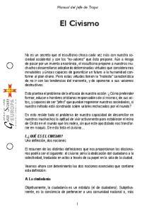 El Civismo. Manual del Jefe de Tropa