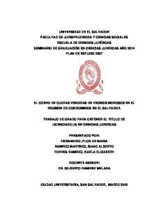 EL COBRO DE CUOTAS VENCIDAS DE VECINOS MOROSOS EN EL REGIMEN DE CONDOMINIOS EN EL SALVADOR