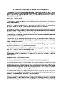EL COLEGIO ELECTORAL DE LOS ESTADOS UNIDOS DE AMERICA*