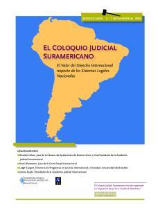 EL COLOQUIO JUDICIAL SURAMERICANO