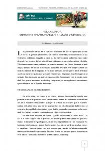 EL COLOSO. MEMORIA SENTIMENTAL Y BLANCO Y NEGRO (2)