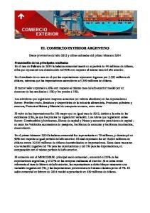 EL COMERCIO EXTERIOR ARGENTINO