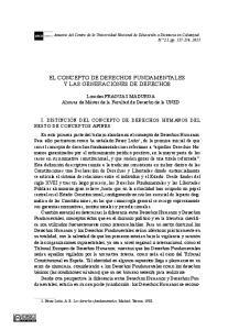 EL CONCEPTO DE DERECHOS FUNDAMENTALES Y LAS GENERACIONES DE DERECHOS