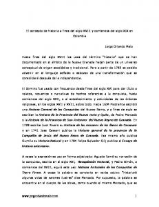 El concepto de historia a fines del siglo XVIII y comienzos del siglo XIX en Colombia