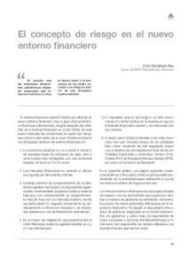 El concepto de riesgo en el nuevo entorno financiero