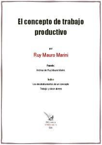 El concepto de trabajo productivo