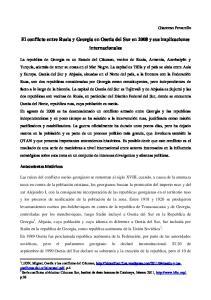 El conflicto entre Rusia y Georgia en Osetia del Sur en 2008 y sus implicaciones internacionales