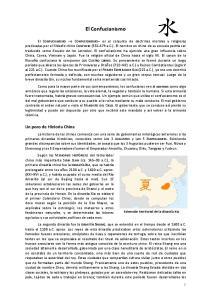 El Confucianismo. Un poco de Historia China