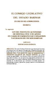 EL CONSEJO LEGISLATIVO DEL ESTADO BARINAS