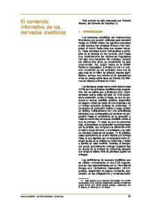 El contenido informativo de los derivados crediticios