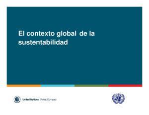 El contexto global de la sustentabilidad