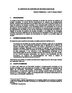 EL CONTRATO DE AUDITORIA DE ESTADOS CONTABLES