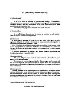 EL CONTRATO DE COMODATO 1