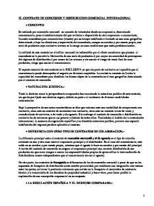 EL CONTRATO DE CONCESION Y DISTRIBUCION COMERCIAL INTERNACIONAL