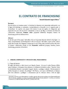 EL CONTRATO DE FRANCHISING