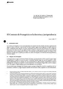 El Contrato de Franquicia en la doctrina y jurisprudencia