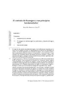 El contrato de Reaseguro y sus principios fundamentales*