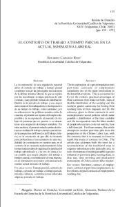 EL CONTRATO DE TRABAJO A TIEMPO PARCIAL EN LA ACTUAL NORMATIVA LABORAL