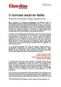 El contrato social de Ralito