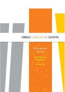 El contrato social. Jean-Jacques Rousseau ( )