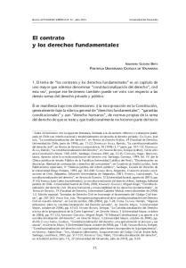 El contrato y los derechos fundamentales