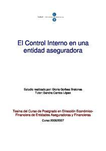 El Control Interno en una entidad aseguradora