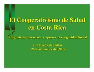El Cooperativismo de Salud en Costa Rica
