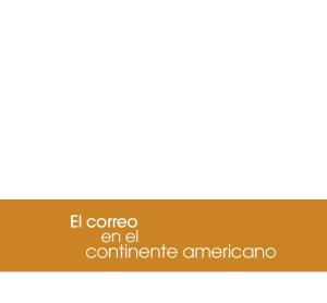 El correo en el. continente americano