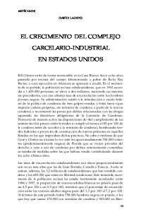 EL CRECIMIENTO DEL COMPLEJO CARCELARIO-INDUSTRIAL EN ESTADOS UNIDOS