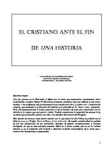 EL CRISTIANO ANTE EL FIN