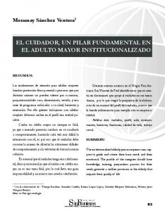 EL CUIDADOR, UN PILAR FUNDAMENTAL EN EL ADULTO MAYOR INSTITUCIONALIZADO