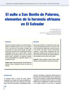El culto a San Benito de Palermo, elementos de la herencia africana en El Salvador