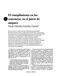 El cumplimiento en las sentencias en el juicio de amparo