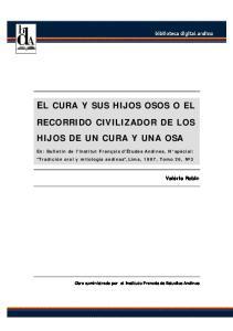 EL CURA Y SUS HIJOS OSOS O EL