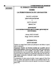 EL DEBATE LANDON-SHARP SOBRE LA PERSEVERANCIA DE LOS SANTOS