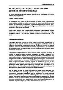 EL DECRETO DEL CONCILIO DE TRENTO SOBRE EL PECADO ORIGINAL
