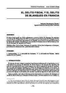 EL DELITO FISCAL Y EL DELITO DE BLANQUEO EN FRANCIA